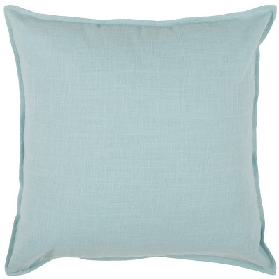 """20""""x20"""" Solid Throw Pillow Blue - Rizzy Home"""