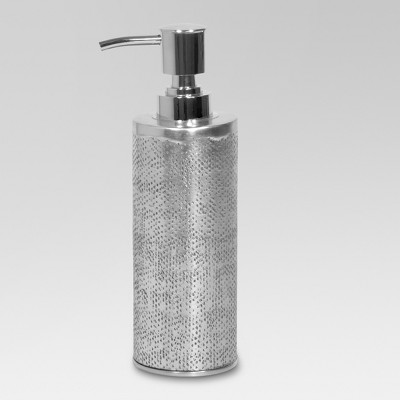 Hammered Texture Metal Lotion/Soap Dispenser Silver - Threshold™