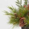3.5ft Unlit Spruce Top Porch Pine in Bronze Pot Artificial Christmas Tree - Wondershop™ - image 2 of 2