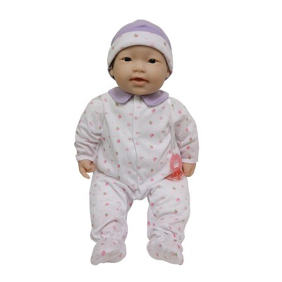 "JC Toys La Baby 20"" Baby Doll - Purple Outfit with Pacifier"