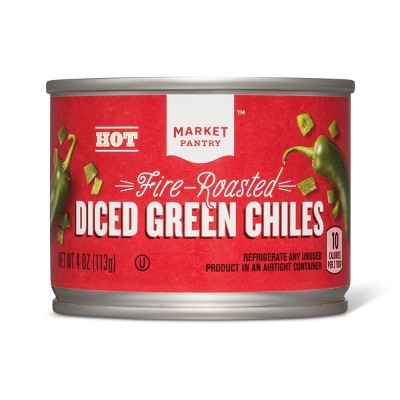 Canned Vegetables: Market Pantry Diced Green Chiles