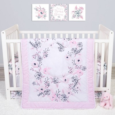 Sammy and Lou Simply Floral Crib Bedding Set - 4pc