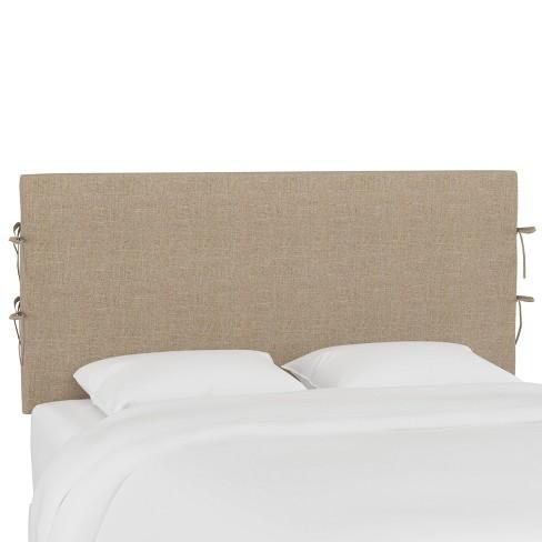 King Slipcover Headboard with Ties Linen Sandstone - Skyline Furniture - image 1 of 4