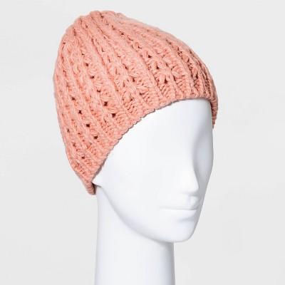 Women's Hand Knit Lined Beanie - Universal Thread™
