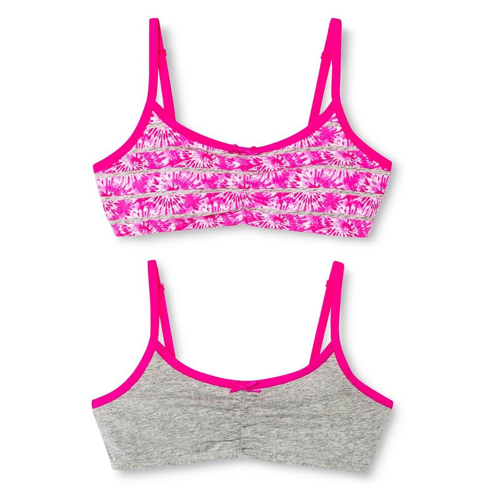 Girls' Bralette 2pk - Circo Pizzazz Pink XL