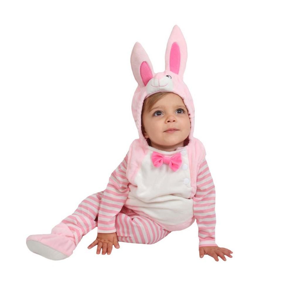Baby Plush Bunny Costume Pink 12-18M - Spritz, Infant Unisex