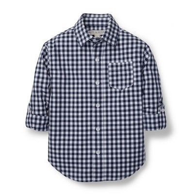 Hope & Henry Boys' Long Sleeve Cotton Poplin Button Down Shirt for Kids