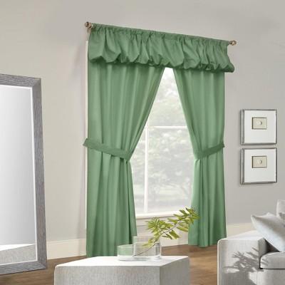 Thermalogic Prescott Energy Efficient 5 Piece Window Curtain Set Sage