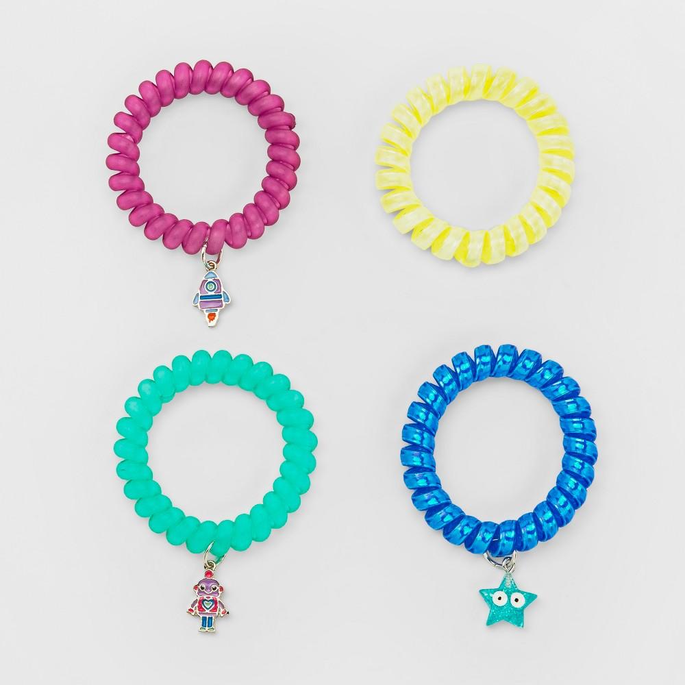 Girls' 4pk Coil Bracelet Set - Cat & Jack One Size, Multi-Colored