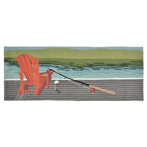 """Rugs 2'3""""X6' Liora Manne Blue - image 1 of 1"""