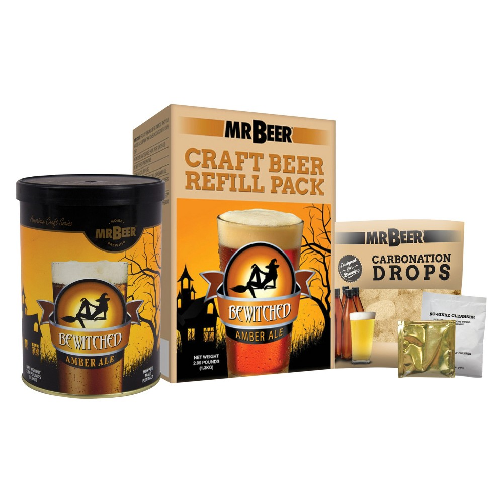 Image of Mr. Beer Bewitched Amber Ale Craft Beer Making Refill Kit, Multi-Colored
