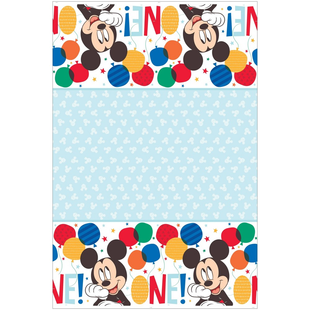 Image of Mickey Mouse 1st Birthday Tablecover, Multi-Colored
