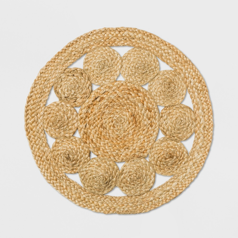 Image of Medallion Woven Charger - Threshold , White