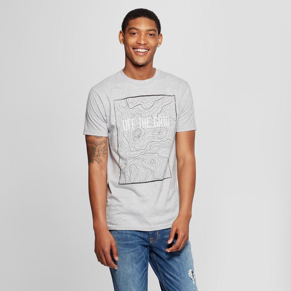 Men's Short Sleeve Off the Grid Graphic T-Shirt - Awake Heather Gray XL