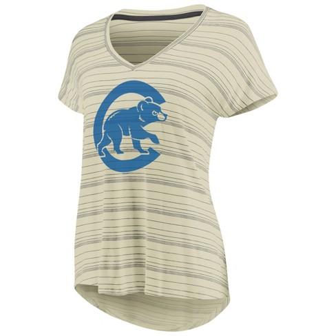 MLB Chicago Cubs Women s Starting Strong Cream Versalux T-Shirt   Target 99f616e03b