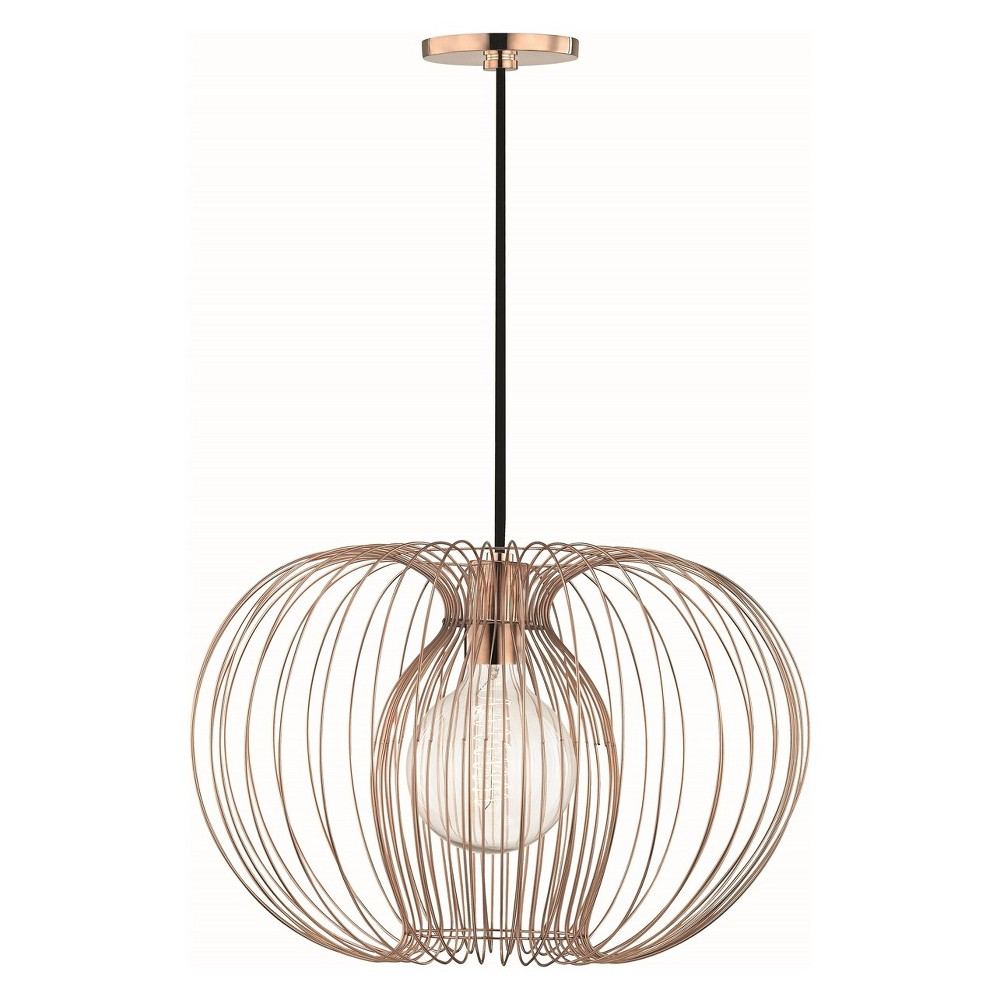 1pc Jasmine Large Light Pendant Copper (Brown) - Mitzi by Hudson Valley