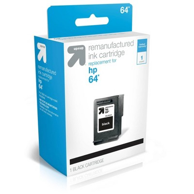 Remanufactured Single Black Standard Ink Cartridge - Compatible with HP 64 Ink Series Printers - TAR64B - up & up™