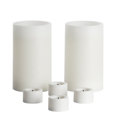 6pc Vanilla Scented LED Candle Set White - Made By Design™