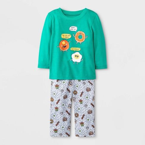 Toddler Boys' Breakfast Long Sleeve Pajama Set - Cat & Jack™ Green - image 1 of 1
