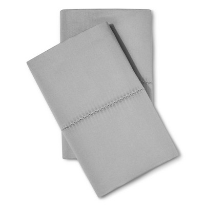 Standard 700 Thread Count Supima Classic Hemstitch Pillowcase Set Skyline Gray - Fieldcrest®