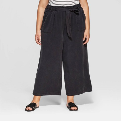 db5add321063 Women's Plus Size Mid-Rise Wide Leg Tie Waist Cropped Pants - Universal  Thread™ : Target
