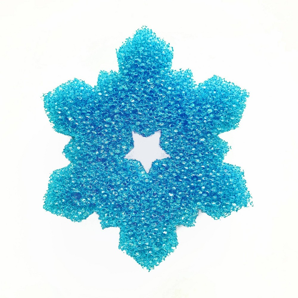 Bright Box Snowflake Scrubber - Blue Bright Box believes the kitchen sits at the center of a happy and healthy home, which is why we're bringing some long overdue joy to the sponge in your sink. For far too long we've allowed sponges to hide in the shadows as a hygiene holdout, a dingy detail, in an otherwise spotless life. No more. It's time for sponges to feel different, and it's time for sponges to make us feel different. Bright Box is taking sponges into the light. Great for dishes, pots, pans, sinks, stoves, appliances, highchairs, kids, toys, bathroom, outdoor furniture, auto and more. Gender: unisex.