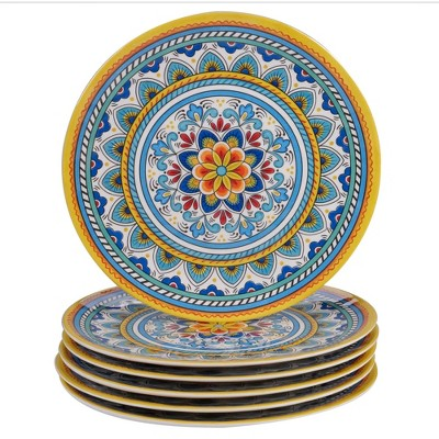 "11"" 6pk Melamine Portofino Dinner Plates - Certified International"