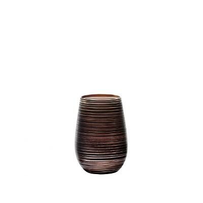 16.5oz 6pk Glass Olympia Twister Tumbler Drinkware Set Black/Bronze - Stolzle Lausitz