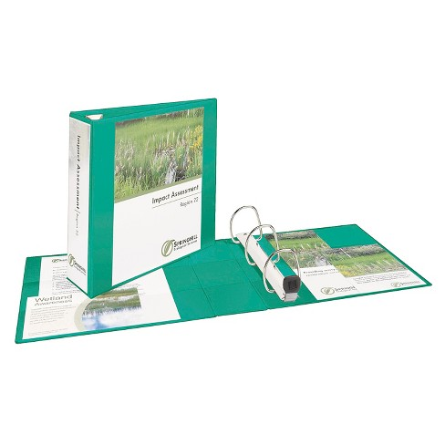 "Avery® 3"" Heavy Duty Ring Binder with Clear Cover, 8.5"" x 11"" - Green - image 1 of 2"