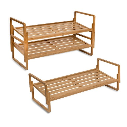 Honey-Can-Do 3-Tier Nesting Bamboo Shoe Rack - image 1 of 6