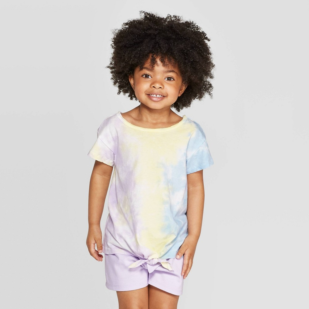 72eacbfd1 Toddler Girls Front Tie Dye T Shirt art class 5T Multicolored