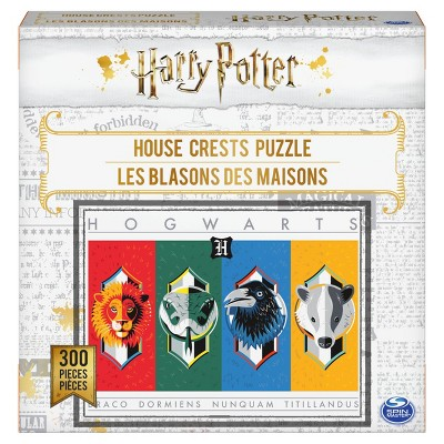 Spinmaster Harry Potter: House Crests Jigsaw Puzzle - 300pc
