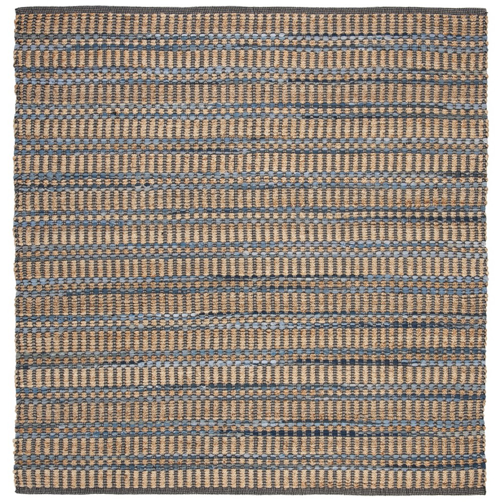 6'X6' Crosshatch Woven Square Area Rug Beige/Blue - Safavieh