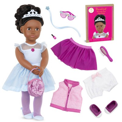 """Our Generation Fashion Starter Kit in Gift Box Rosalind with Mix & Match Outfits & Accessories 18"""" Fashion Doll"""