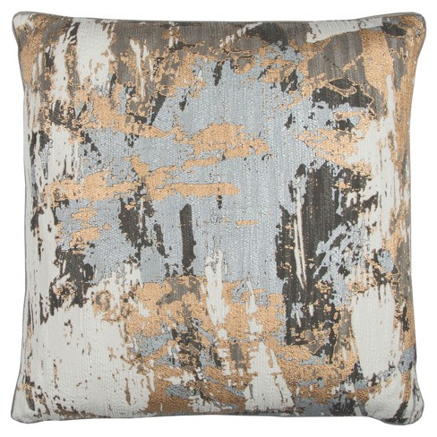 """20""""x20"""" Oversize Cotton Square Throw Pillow - Rizzy Home - image 1 of 2"""