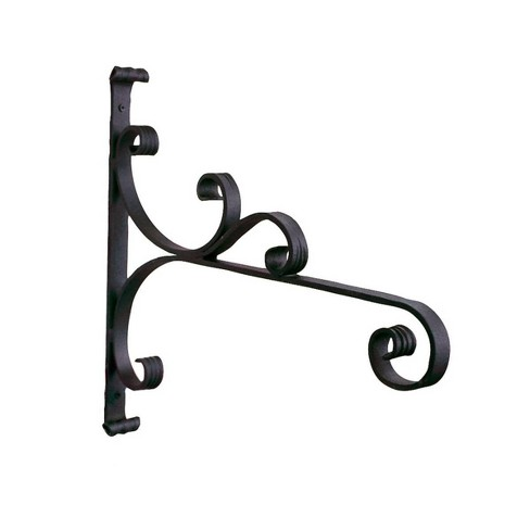 """16.5"""" x 18"""" Steel All Purpose Traditional Style Bracket Black - ACHLA Designs - image 1 of 2"""