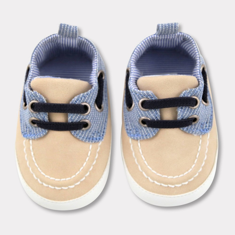 Baby Boys 39 Striped Chambray Boat Shoes Cat 38 Jack 8482 Blue 6 9m
