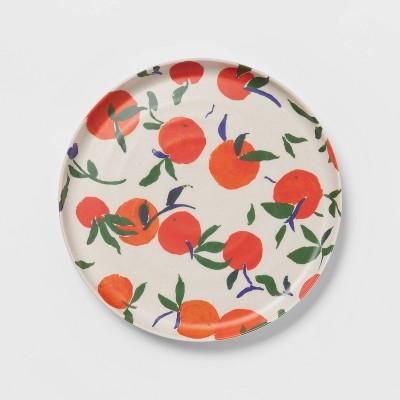 "8"" Bamboo Melamine Oranges Salad Plate - Opalhouse™"