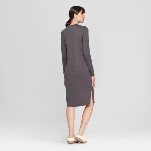 11669b17acac Women s Long Sleeve Knit Midi Dress - Prologue™ Gray XL   Target