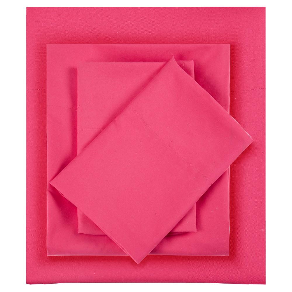 King Microfiber All Season Wrinkle-Free Sheet Set Pink