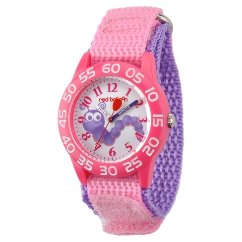 Girls' Red Balloon Pink Plastic Time Teacher Watch - Pink - image 1 of 2