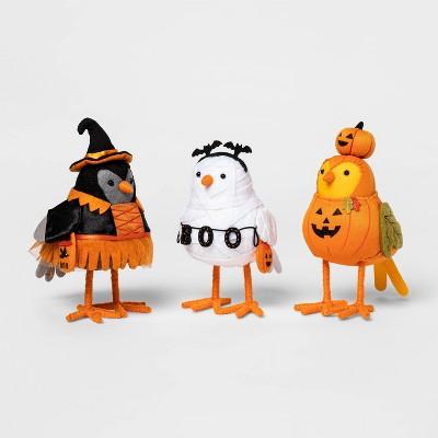 3pk Featherly Friends Bird Halloween Decorative Figurine - Hyde & EEK! Boutique™