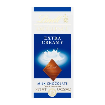 LINDT EXCELLENCE Extra Creamy Milk Chocolate - 3.5oz