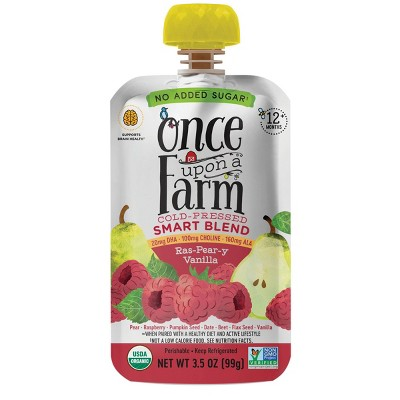 Once Upon a Farm Organic Ras-Pear-y Vanilla Smart Blend 12+ Months - 3.5oz