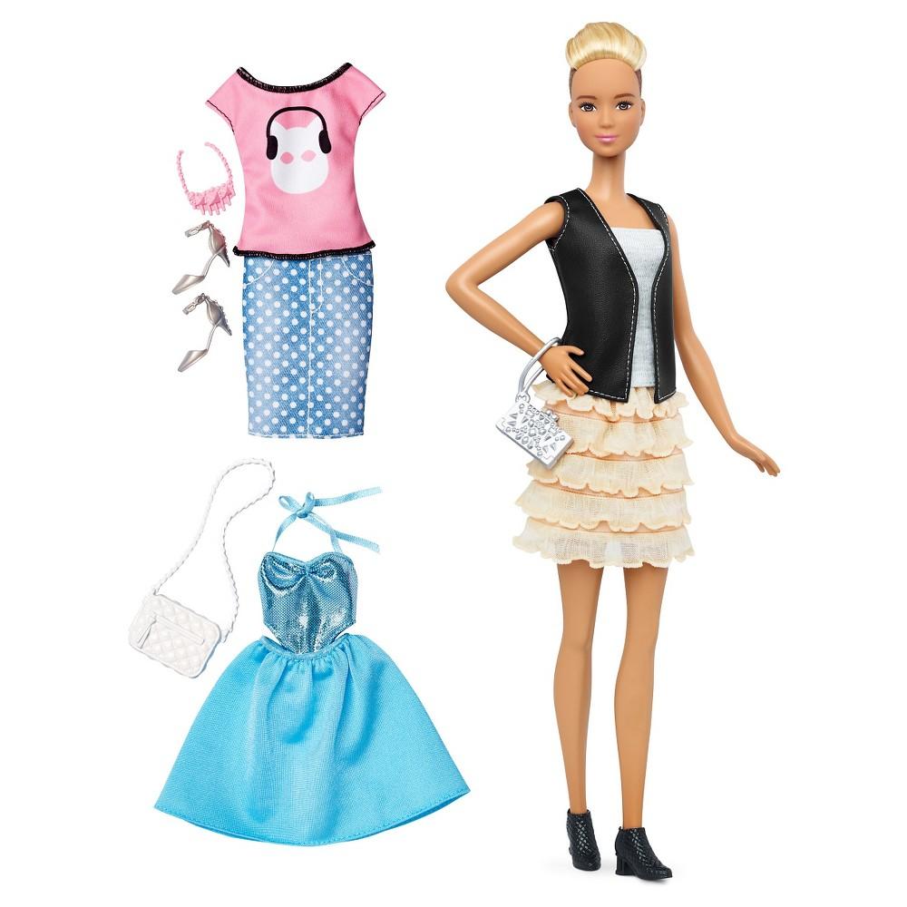 Barbie Fashionistas 44 Leather & Ruffles Doll & Fashions - Tall
