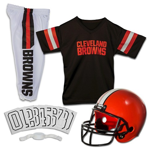 Franklin Sports Cleveland Browns Deluxe Football Helmet/Uniform Set - image 1 of 3