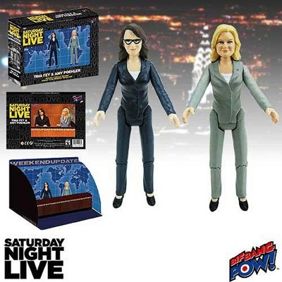 """Entertainment Earth Saturday Night Live Weekend Update Set of 2 Amy/Tina 3 1/2"""" Figure"""