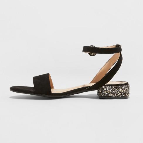 1c7972fa97de Women s Winona Glitter Ankle Strap Sandals - A New Day™   Target
