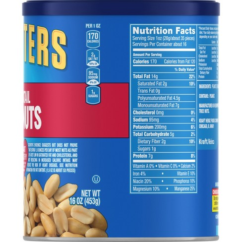 Planters Heart Healthy tail Peanuts - 16oz : Target on