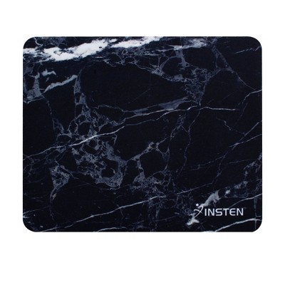 "Insten Mouse Pad for Computer Desk Laptop Gaming Marble Patterned with Nonskid Rubber Base Waterproof Coating Mouse Mat (8.6"" x 7"") Marble Black"